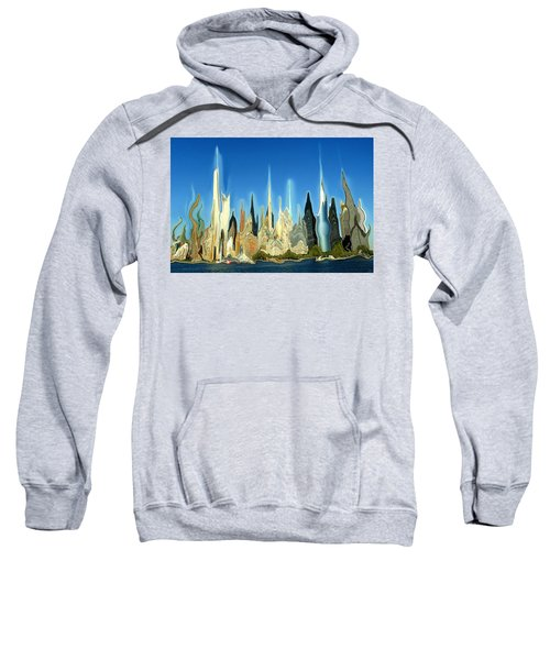New York City Skyline 2100 - Modern Artwork Sweatshirt