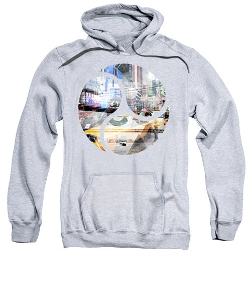 New York City Geometric Mix No. 9 Sweatshirt by Melanie Viola