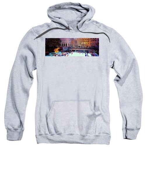 New York City Rockefeller Center Ice Rink  Sweatshirt