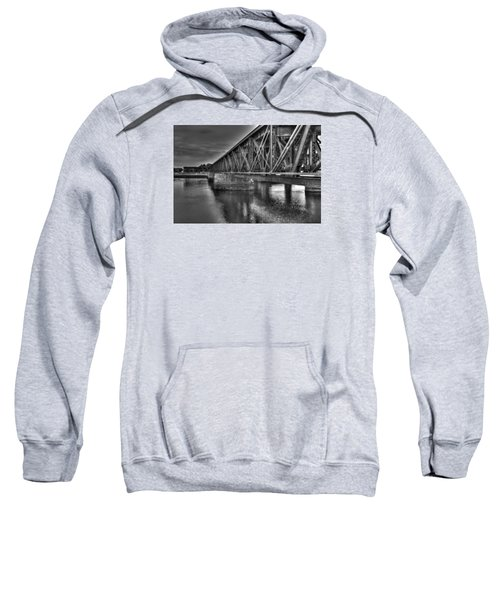 Newburyport Train Trestle Bw Sweatshirt