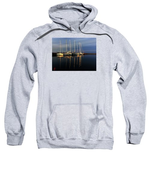 Night On Paros Island Greece Sweatshirt