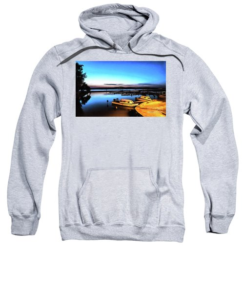 Night Port Painting Sweatshirt