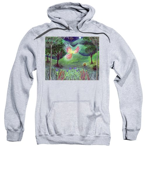 Night With Fire Bird And Sacred Bush Sweatshirt