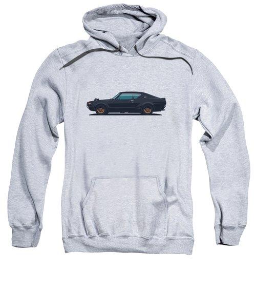 Nissan Skyline Gt-r C110 Side - Plain Black Sweatshirt