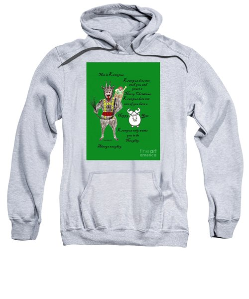 Sweatshirt featuring the painting No Happy Gnu Year by Denise Railey