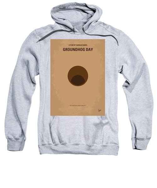 No031 My Groundhog Minimal Movie Poster Sweatshirt