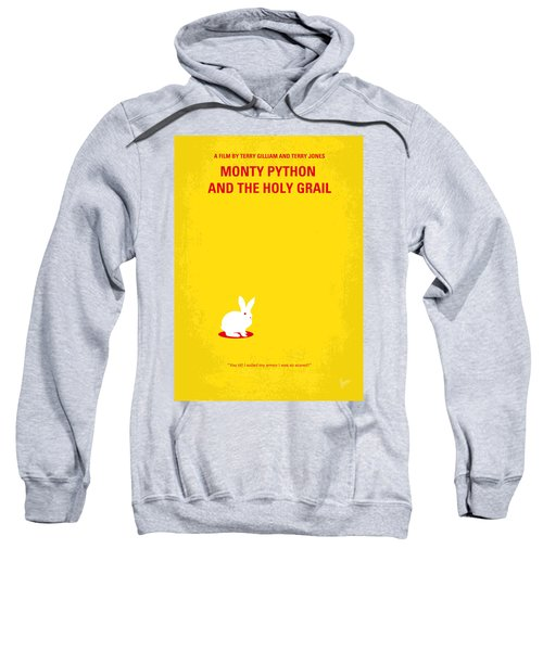 No036 My Monty Python And The Holy Grail Minimal Movie Poster Sweatshirt by Chungkong Art