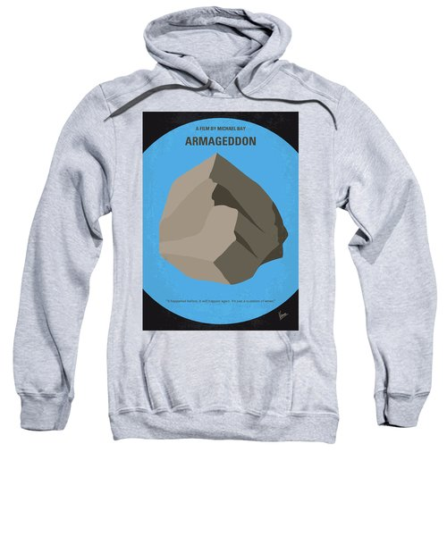 No695 My Armageddon Minimal Movie Poster Sweatshirt by Chungkong Art