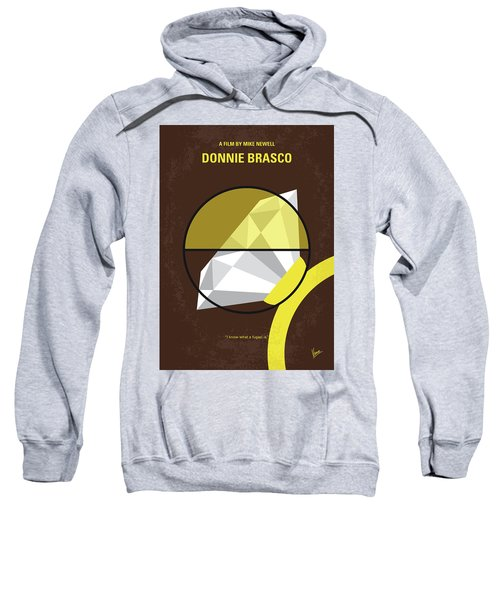 No766 My Donnie Brasco Minimal Movie Poster Sweatshirt by Chungkong Art