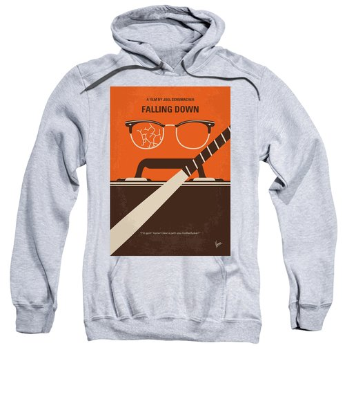 No768 My Falling Down Minimal Movie Poster Sweatshirt