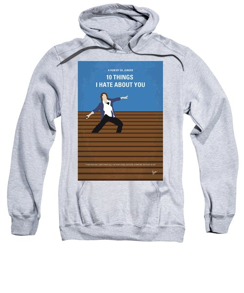 No850 My 10 Things I Hate About You Minimal Movie Poster Sweatshirt