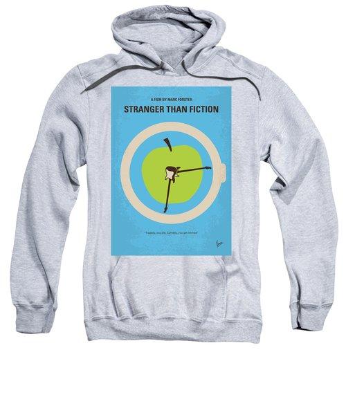 No868 My Stranger Than Fiction Minimal Movie Poster Sweatshirt