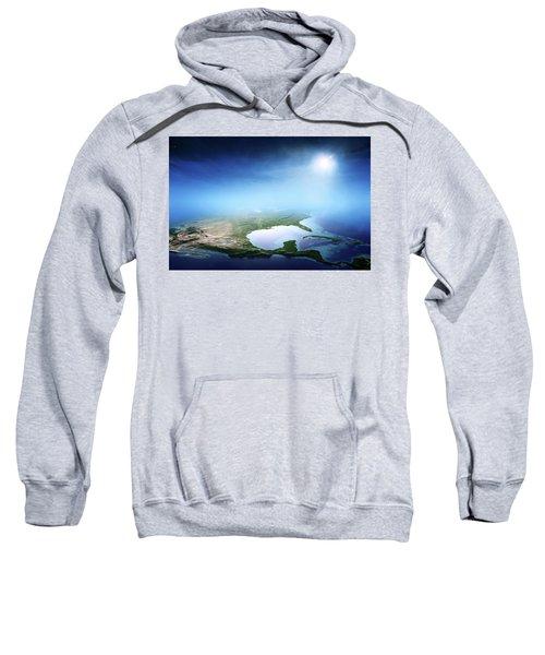 North America Sunrise Aerial View Sweatshirt