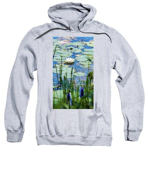 North American White Water Lily Sweatshirt
