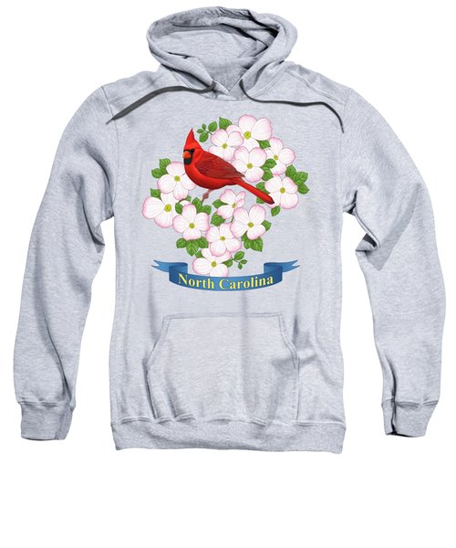North Carolina State Bird And Flower Sweatshirt
