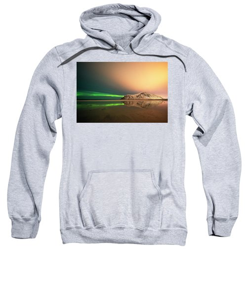 Northern Light In Lofoten Nordland 5 Sweatshirt