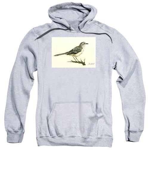 Northern Mockingbird Sweatshirt by Juan  Bosco