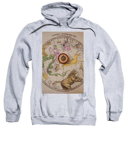 Northern Star Map And Compass Sweatshirt