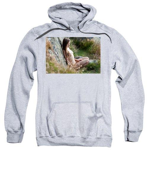 Nude Girl In The Nature Sweatshirt