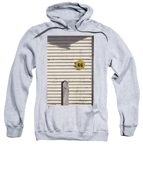Sweatshirt featuring the photograph Number 66 by Linda Lees