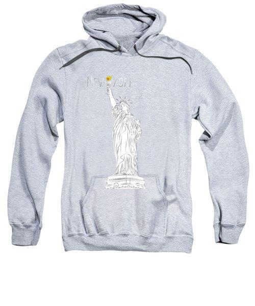 Ny Statue Of Liberty Line Art Sweatshirt