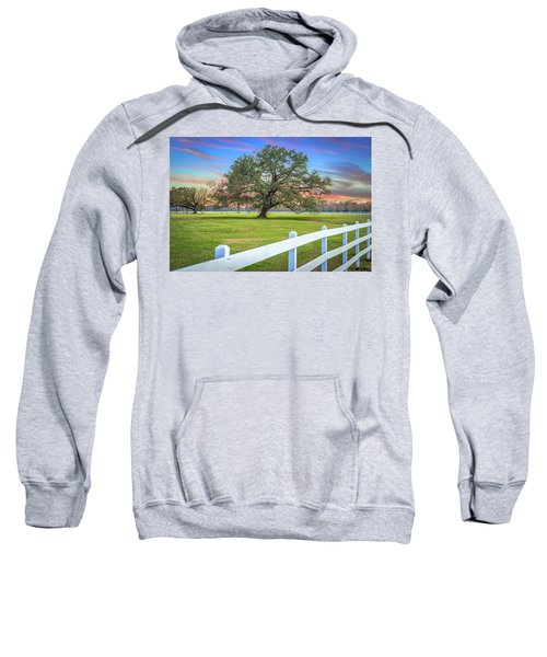 Oak Alley Signature Tree At Sunset Sweatshirt