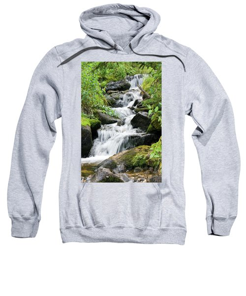 Sweatshirt featuring the photograph Oasis Cascade by David Chandler