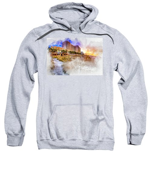 Ocean Drive Sunrise Watercolor Sweatshirt