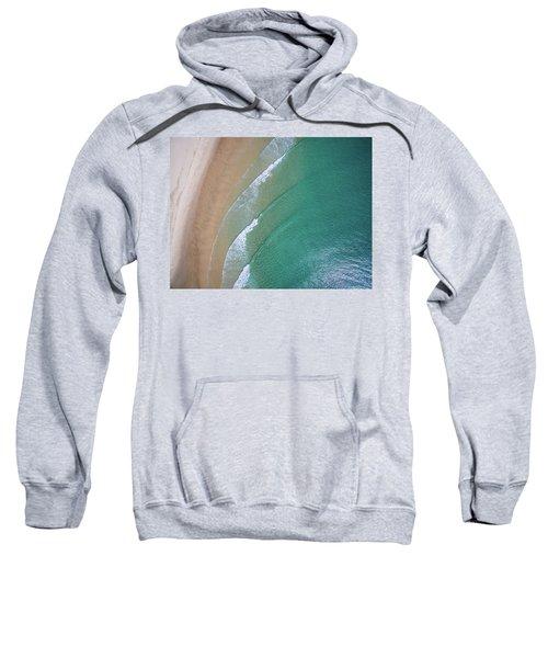 Ocean Waves Upon The Beach Sweatshirt