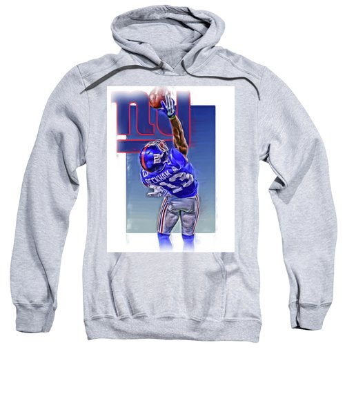 Odell Beckham Jr New York Giants Oil Art 2 Sweatshirt