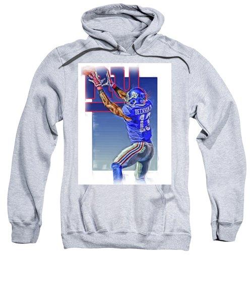 Odell Beckham Jr New York Giants Oil Art 3 Sweatshirt