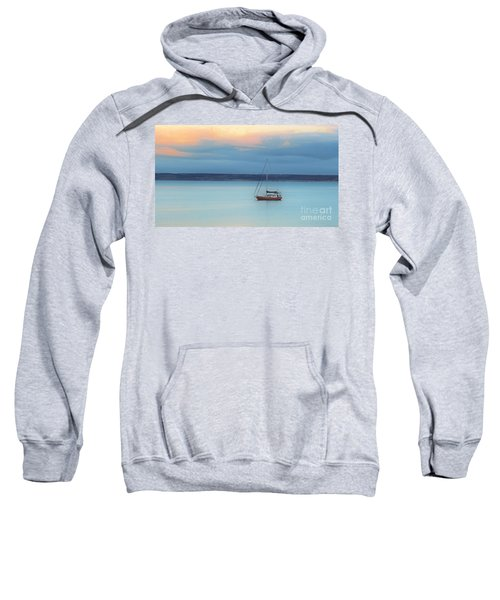 Sweatshirt featuring the photograph Off Sailing by Stephen Mitchell