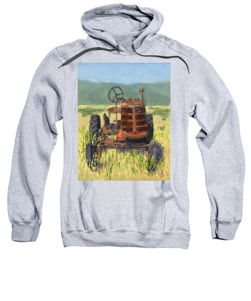 Offset High Crop Sweatshirt