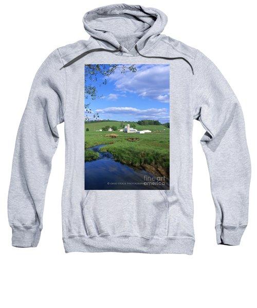 3d203 Ohio Farm Photo Sweatshirt