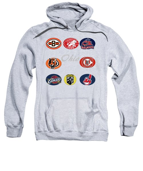 Ohio Professional Sport Teams Collage Sweatshirt by Movie Poster Prints