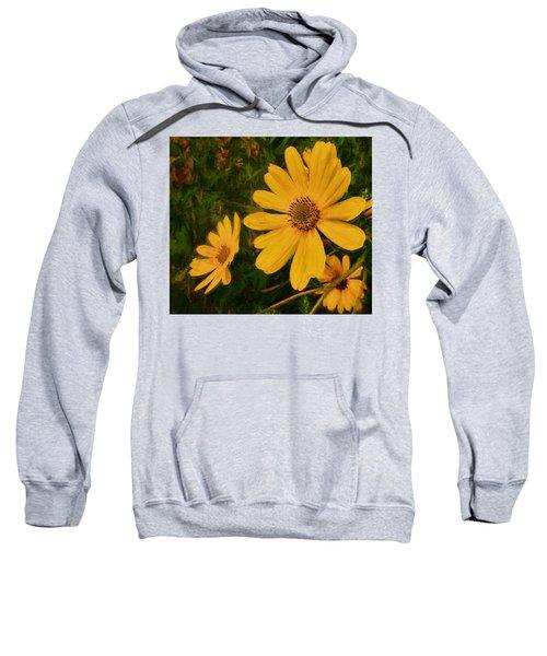 Oil Glaze Wildflowers Sweatshirt