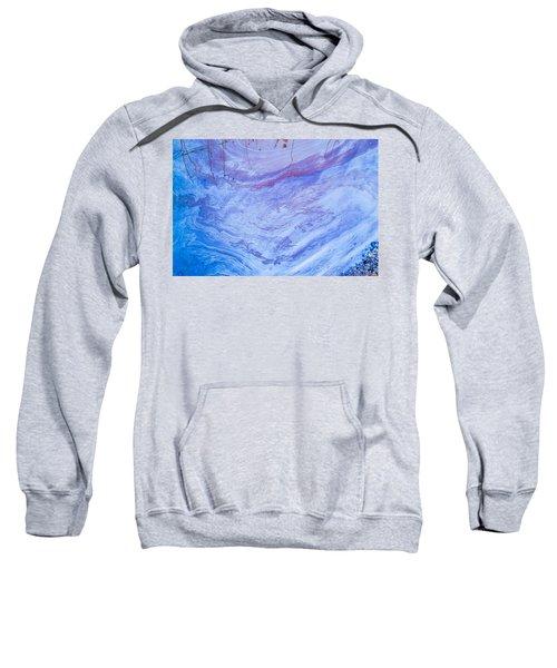 Oil Spill On Water Abstract Sweatshirt