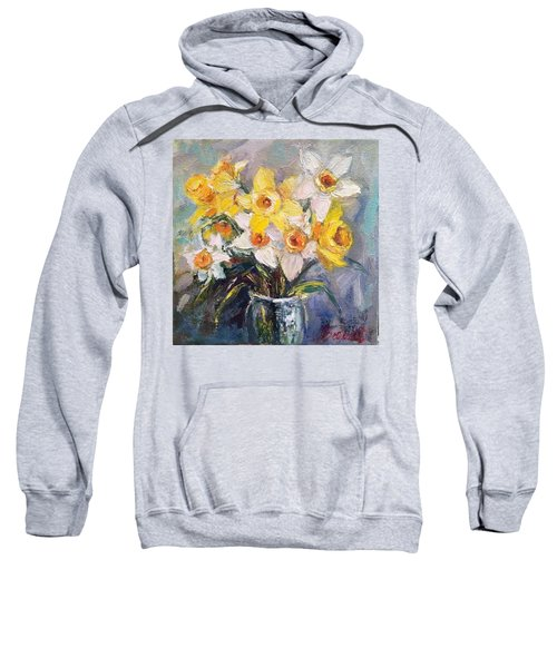 Ok Finished! #springflowers #daffodils Sweatshirt