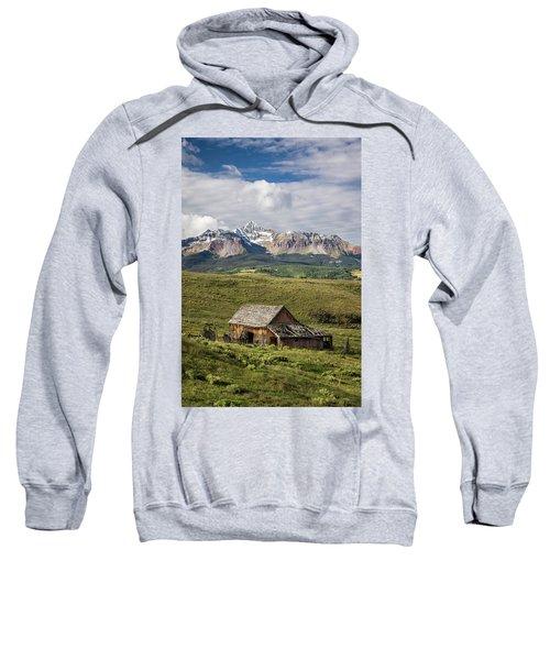 Old Barn And Wilson Peak Vertical Sweatshirt