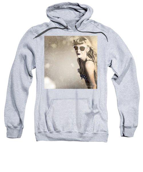 Old Fashion Rockabilly Girl Sweatshirt