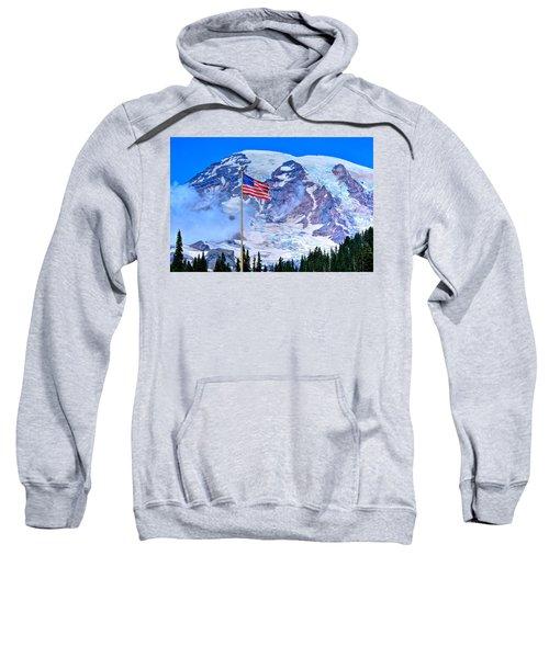 Old Glory At Mt. Rainier Sweatshirt