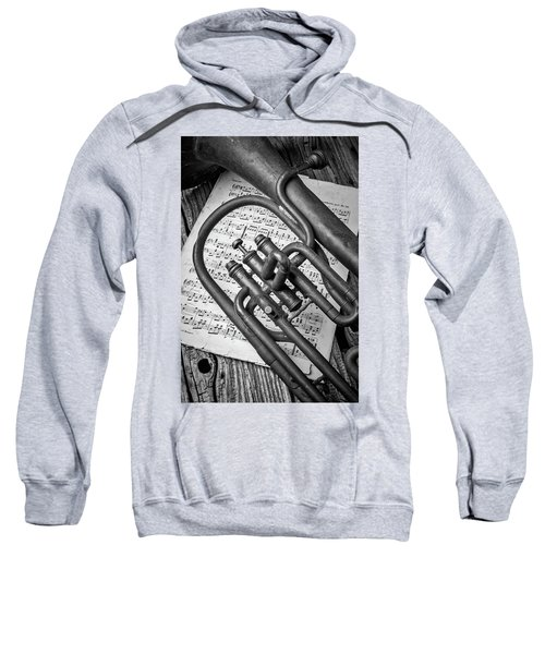 Old Horn And Sheet Music Sweatshirt