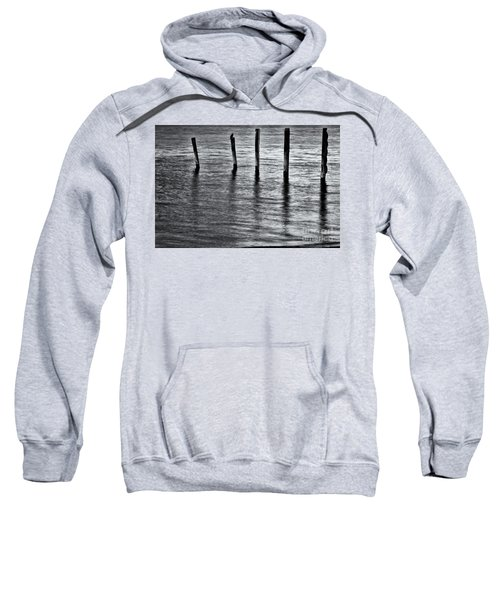 Sweatshirt featuring the photograph Old Jetty - S by Werner Padarin