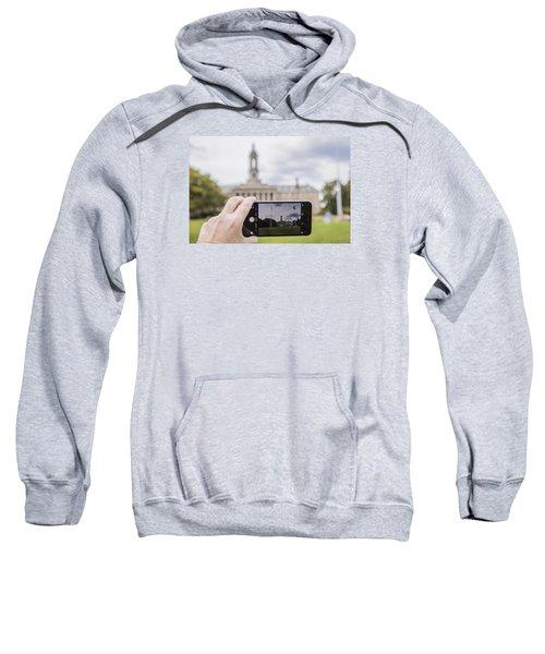 Old Main Through Iphone  Sweatshirt