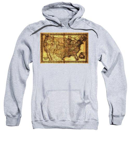Old Map United States Sweatshirt