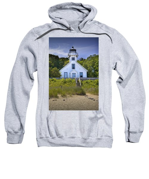 Old Mission Point Lighthouse In Grand Traverse Bay Michigan Number 2 Sweatshirt
