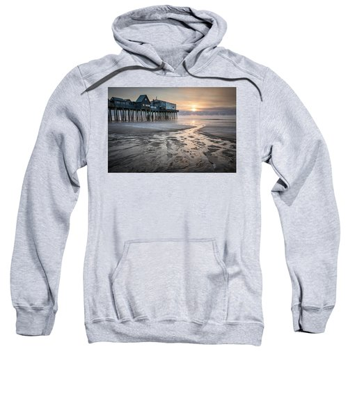 Old Orchard Beach Sea Smoke Sunrise Sweatshirt