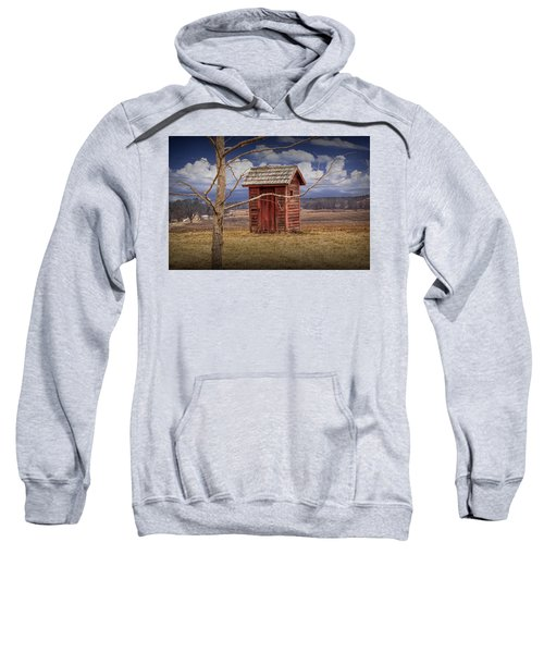 Old Rustic Wooden Outhouse In West Michigan Sweatshirt