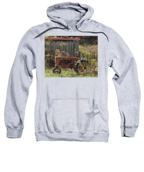 Old Tractor On The Farm. Sweatshirt