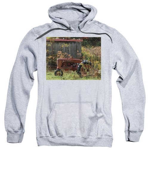 Old Tractor On The Farm. Sweatshirt